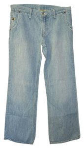 Gap Trouser/Wide Leg Jeans-Light Wash