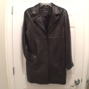 Marc New York Leather Long Leather Jacket