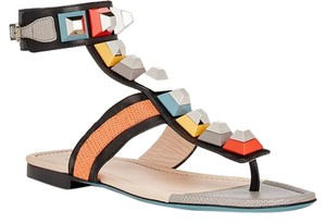 Fendi Studded Desinger Gladiator Multi-Color Sandals
