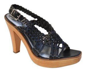 Fergie Slingback Pump Braided Black Sandals