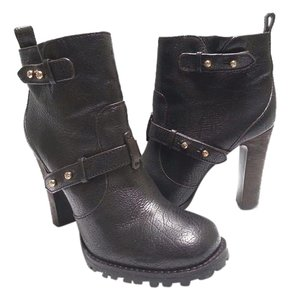 Tory Burch Distressed Leather Black Boots