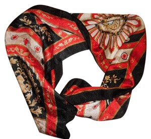 Royalty Print Leaves Lightweight Thin Scarf