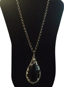 Other Large black stone necklace