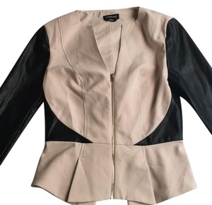 bebe Black and Nude Leather Jacket