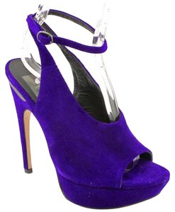 Dolce Vita Ankle Strap Suede Purple Pumps