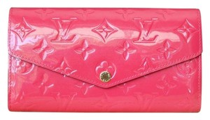 Louis Vuitton Louis Vuitton Hot Pink Vernis Sarah Clutch Wallet