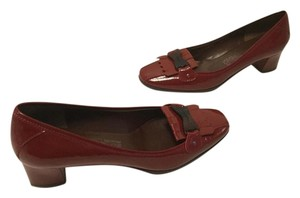 Salvatore Ferragamo Style Red patent leather loafer with tassels Italian Pumps