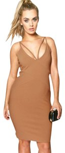 short dress Camel on Tradesy