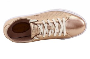 Lacoste Leather Imported Rubber Sole Gold Flats