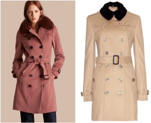 Burberry London Cashmere Wool Burberry Mink Coat