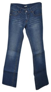 Guess Whiskering Stretchy Flare Leg Jeans-Distressed