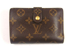 Louis Vuitton Monogram Canvas Leather French Clutch Snap Wallet w/ Dustbag