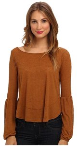 Free People Jilly Poetic Justice Color: Mustard Boho Peasant Clearance Sweater