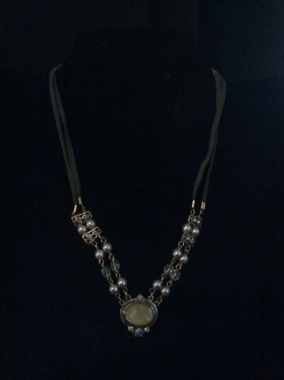 Other Beaded necklace with medallion