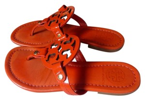 Tory Burch Flip Flops Leather Leather orange Sandals