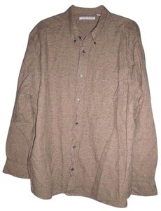 Knightsbridge Checked Warm Autumn Winter Button Down Shirt Brown