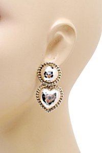 Other Sterling Silver 'Heart' Drop Earrings w/Hammered+Polished Finish