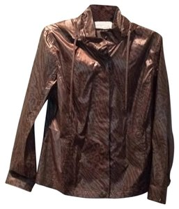 Chico's Animal Print/Copper Jacket