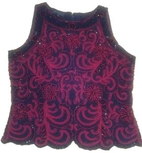 JKara Top Black with red beading