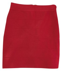 bebe Bandage Mini Skirt Red