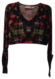 Preen by Thornton Bregazzi Pockets Cashmere Longsleeve Crop V-neck Sweater