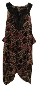 Alfani short dress black Sequin Matte Tribal Aztec Coverup on Tradesy