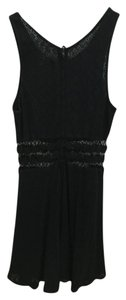 Free People short dress Black Floral Cut-out Lace on Tradesy