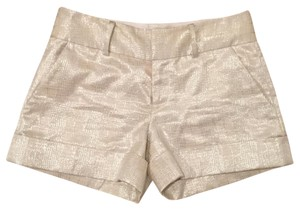 Club Monaco Dress Shorts White and Metallic