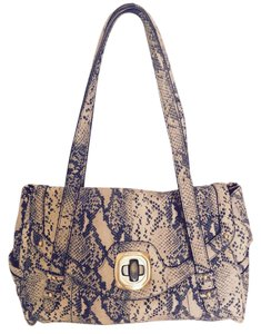 B. Makowsky Like New Genuine Leather Satchel in Faux Python