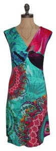 Desigual short dress multi color Stretchy on Tradesy
