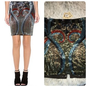 Haute Hippie Mini Skirt Blue
