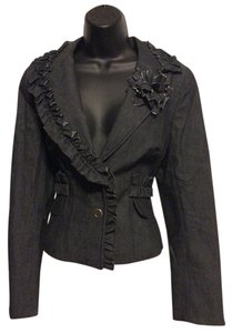 Kay Unger Black Denim Suit