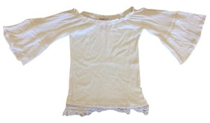 Flying Tomato Peansant Lace Top White