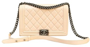Chanel Medium Cross Body Boy Leather Shoulder Bag