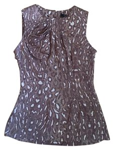 BCBGMAXAZRIA Leopard Silk Sleeveless Top Brown, Tan