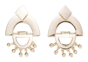 Zara Faux Gold Geometric Shape Drop Earrings