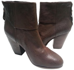 Rag & Bone Ankle Stacked Heel Brown Boots