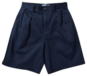 Polo Ralph Lauren Mens Pleated Classic Navy Shorts
