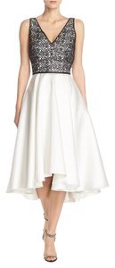 Carmen Marc Valvo Hi Lo Formal Embroidered Dress