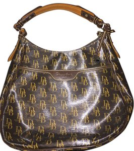 Dooney & Bourke Large Leather Metal Shoulder Bag