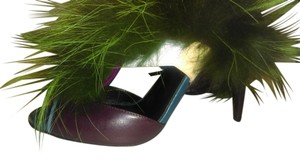 Fendi Purple/ Green Sandals