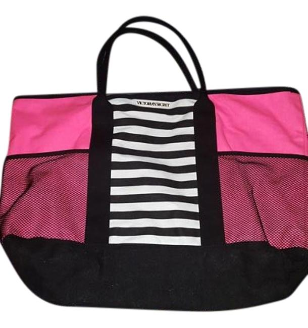 Item - Pink and Black Nylon Tote