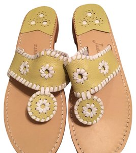 Jack Rogers Yellow and White Sandals