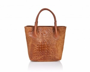 Massimo Leather Tote in Cognac