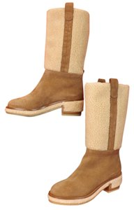 Chanel G30934 Gold Riding Tan Camel Brown Boots