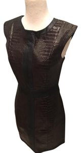 mark. Faux Leather Crocodile Dress