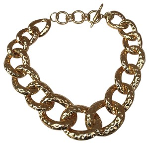 Kenneth Jay Lane Hammer Metallic Link Necklace