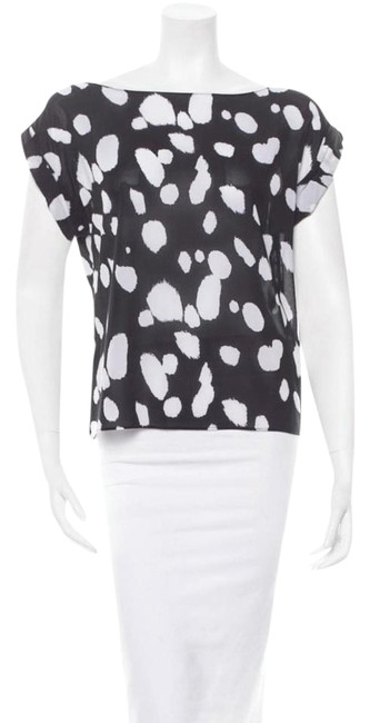 Item - Black and White Blouse Size 4 (S)