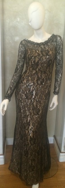 Item - Black/Nude 29676 Long Formal Dress Size 4 (S)
