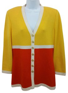 St. John Color-blocking Knit Jacket Blazer